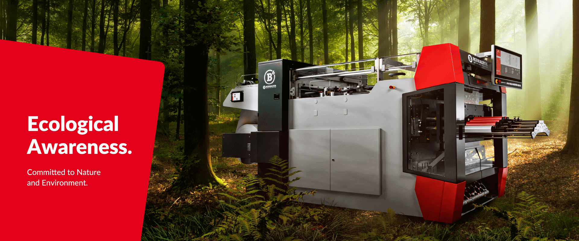 Ecological Awareness Committed to Nature and Environment BERHALTER Swiss Die-Cutting