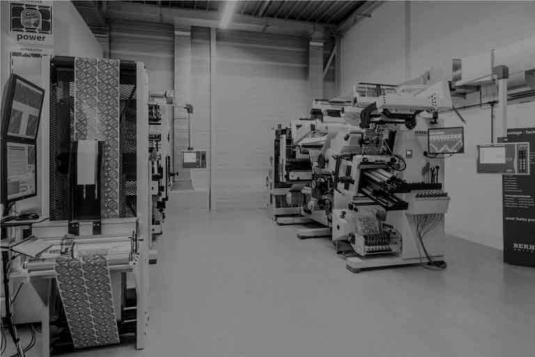 BEAMstack™ Automated Packaging Systems and Robotics BERHALTER Swiss Die-Cutting Show Room